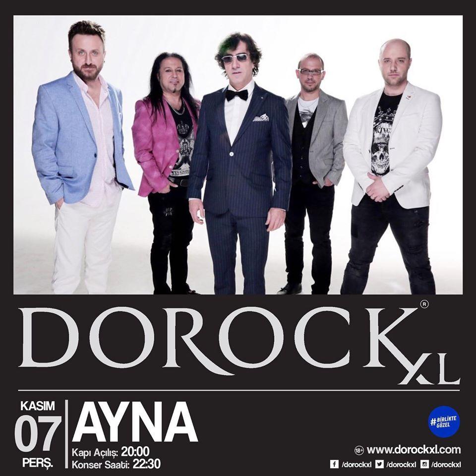 Ayna , 7 Kasım 2019 Dorock XL Kadıköy Sahnesi 'nde